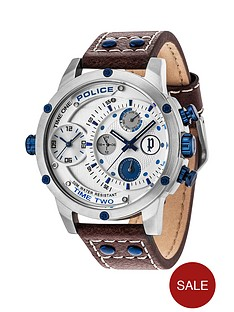 police-police-adder-white-multi-dial-blue-accents-brown-leather-strap-mens-watch