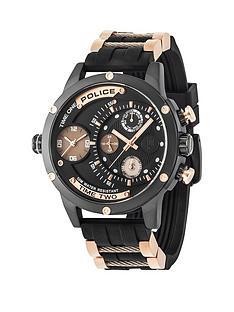 police-adder-black-mutlidial-black-silicone-strap-mens-watch