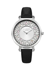 lipsy-lipsy-silver-white-sunray-dial-stone-set-bezel-black-pu-strap-ladies-watch