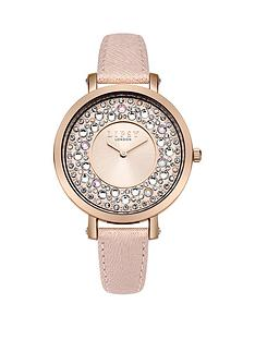 lipsy-blush-pink-embellishednbspsunray-dial-pink-pu-strap-ladies-watch
