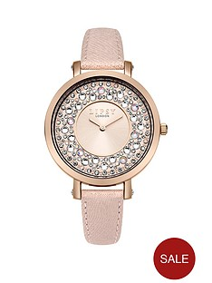 lipsy-blush-pink-embellishednbspsunray-dial-pink-pu-strap-ladies-watch