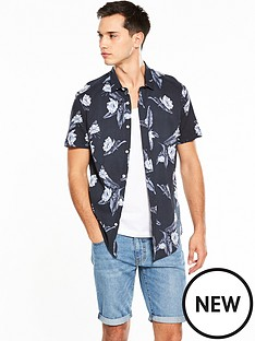 v-by-very-short-sleeve-leaf-printed-shirt