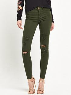 river-island-molly-khaki-ripped-jeans