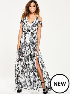 myleene-klass-cold-shoulder-tropical-maxi-dress