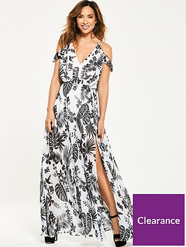 2eb90acd443 Myleene Klass Cold Shoulder Tropical Maxi Dress