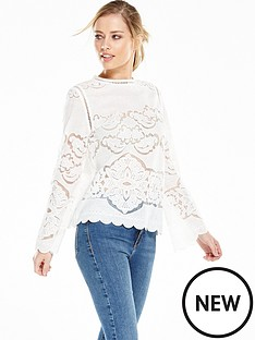 vila-bellinanbsplong-sleeve-top