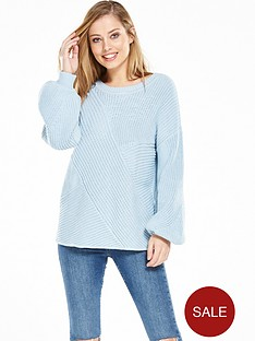 vila-omas-knit-top-cashmere-blue