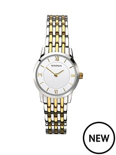 sekonda-sekonda-white-dial-two-tone-bracelet-stainless-steel-ladies-watch