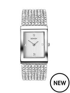 seksy-seksy-white-dial-stone-bracelet-ladies-watch