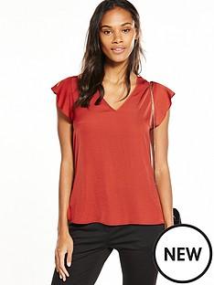 v-by-very-sleeveless-ruffle-blouse