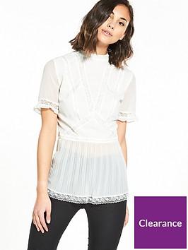 v-by-very-lace-insert-pleat-hem-blouse