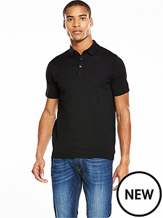 river-island-short-sleeve-slim-fit-knitted-polo