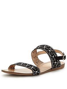 wallis-sophie-glitter-flat-sandal