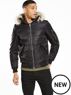 river-island-faux-fur-hooded-bomber-jacket