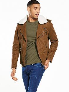 river-island-borg-collar-biker-jacket
