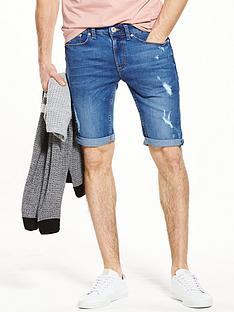 river-island-skinny-distressed-denim-shorts