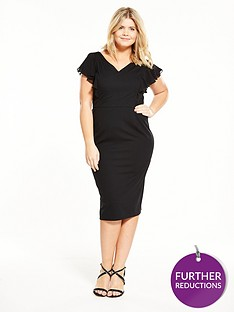 v-by-very-curve-ruffle-pencil-dress-black