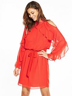 v-by-very-ruffle-sleeve-dress