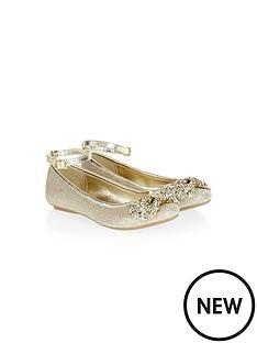 monsoon-girlsnbspdiamond-bow-ankle-strap-ballerinas