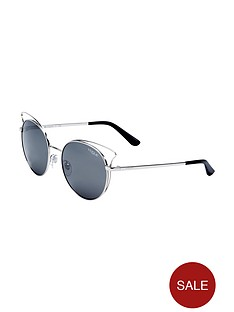 vogue-vogue-round-cateye-cutout-mirrored-sunglasses