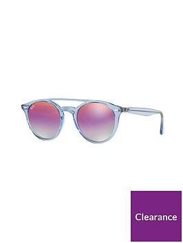 ecbaf0ea81 Ray-Ban Rayban Clear Frame Round Sunglasses