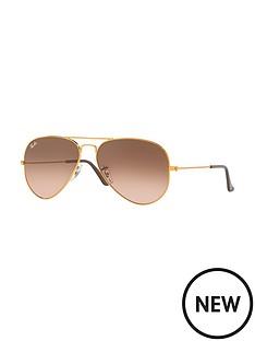 ray-ban-rayban-gradient-lense-aviator-sunglasses