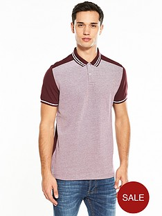 v-by-very-short-sleeve-panel-pique-polo