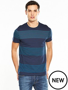 v-by-very-short-sleeve-yard-dyed-multi-stripe-t-shirt