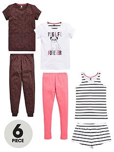 v-by-very-girls-pug-life-pyjamas-6-piece