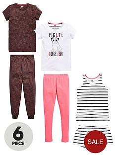 v-by-very-girls-pug-life-pyjamas-6-piece