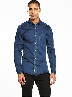 river-island-long-sleeve-denim-muscle-fit-shirt