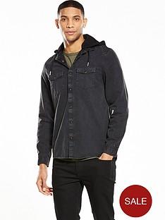river-island-long-sleeve-denim-hooded-shirt
