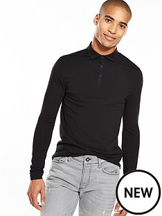 river-island-long-sleeve-muscle-fit-polo