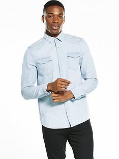 river-island-long-sleeve-bleach-western-denim-shirt