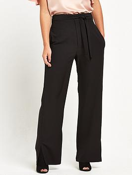 Alter Petite Wide Leg Trouser  Black
