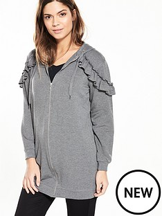 v-by-very-longline-ruffle-detail-hoodie