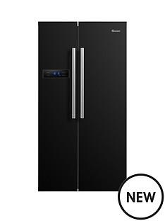 swan-sr70120b-90cm-american-style-double-door-fridge-freezer--nbspnext-day-delivery-black