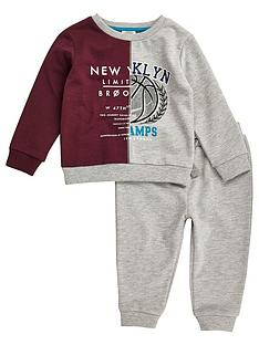 river-island-mini-boys-block-varsity-sweat-top-and-joggers-set
