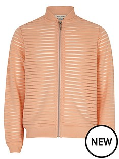 river-island-girls-coral-mesh-bomber-jacket