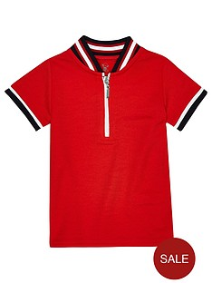 river-island-mini-boys-tipped-zip-polo-shirt