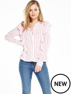 vero-moda-erika-ruffle-shirt-snow-white-peony