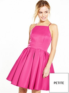 chi-chi-london-petitenbspfit-and-flare-dress--nbspfuchsia