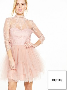 chi-chi-london-petite-lace-top-dress-dusty-pink