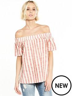 vero-moda-laura-off-the-shoulder-top-hibiscus
