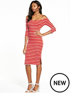 v-by-very-bardot-rib-midi-dress