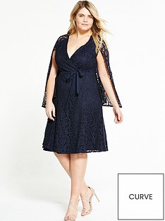 lost-ink-curve-lace-dress-with-cap-dress