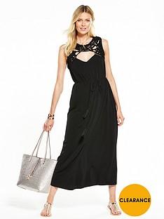 v-by-very-macrame-trim-maxi-dress--nbspblack