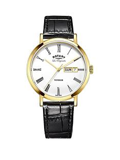 rotary-rotary-windsor-swiss-movement-white-date-dial-gold-tone-case-black-leather-strap-mens-watch
