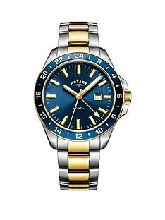 rotary-rotary-havana-gmt-black-dial-two-tone-stainless-steel-bracelet-mens-watch