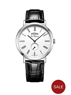 rotary-rotary-windsor-swiss-movement-white-dial-black-leather-strap-mens-watch